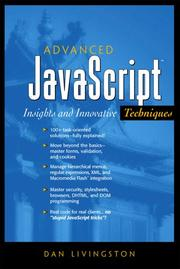 Advanced JavaScript by Dan Livingston