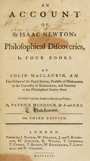 An account of Sir Isaac Newtons philosophical discoveries