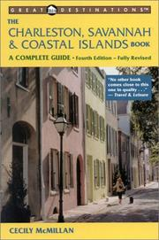 The Charleston, Savannah & coastal islands book by Cecily McMillan