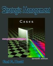Strategic management by Fred R. David