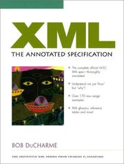 XML by Bob DuCharme