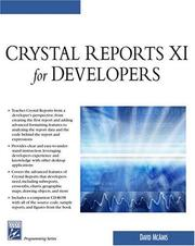 Crystal reports XI for developers by David McAmis
