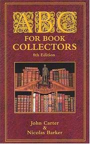 ABC for book-collectors by Carter, John