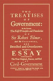 Cover of: Two Treatises Of Government by John Locke