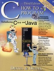 C++ how to program by Paul J. Deitel