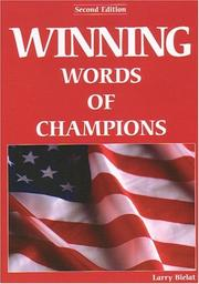 Cover of: Winning Words of Champions by Larry Bielat