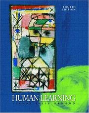 Human Learning by Jeanne Ellis Ormrod