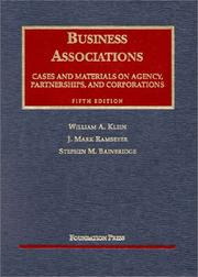 Cases and materials [on] business associations by William A. Klein