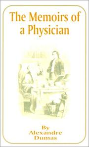 Memoirs of a physician by Alexandre Dumas (pre)