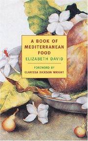 A book of Mediterranean food by Elizabeth David