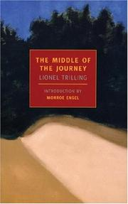 The middle of the journey by Trilling, Lionel