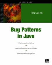 Bug patterns in Java by Allen, Eric