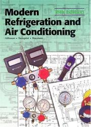 Modern refrigeration and air conditioning by Andrew Daniel Althouse