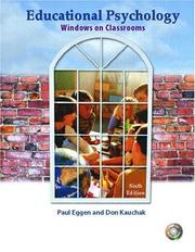 Educational Psychology by Paul D. Eggen