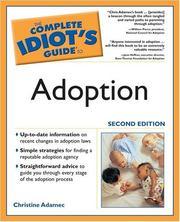 The complete idiot's guide to adoption PDF