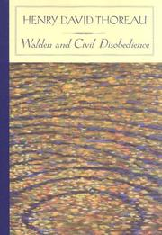 Cover of: Walden and Civil Disobedience (Barnes & Noble Classics) by Henry David Thoreau
