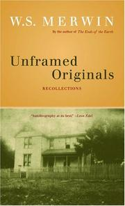 Unframed originals by W. S. Merwin