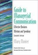 Guide to managerial communication by Mary Munter