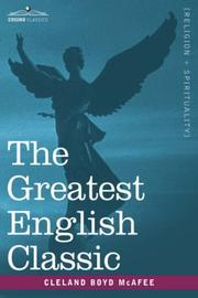 The greatest English classic by Cleland Boyd McAfee
