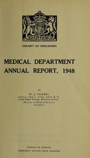 Annual report of the Medical Department