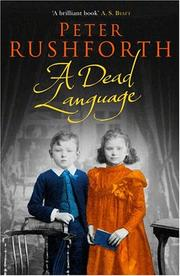 Cover of: A Dead Language by Peter Rushforth