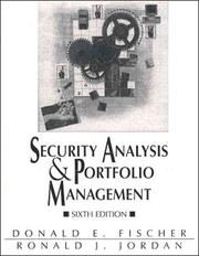 Security analysis and portfolio management by Donald E. Fischer