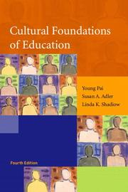 Cultural foundations of education by Young Pai