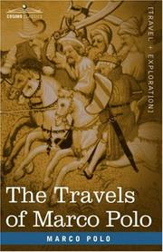 Cover of: The Travels of Marco Polo by Marco Polo
