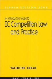 An introductory guide to EC competition law and practice by Valentine Korah