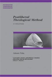 Postliberal Theological Method by Adonis Vidu