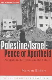 Palestine/Israel: Peace or Apartheid PDF