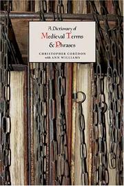 A dictionary of medieval terms and phrases PDF