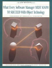 What every software manager must know to succeed with object technology PDF
