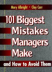 101 biggest mistakes managers make and how to avoid them PDF