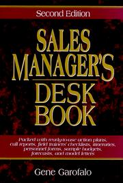Sales manager's desk book PDF
