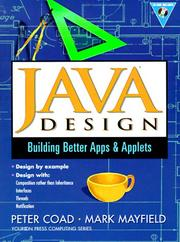 Java design by Peter Coad