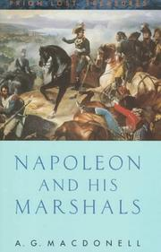 Napoleon and his marshals by Macdonell, A. G.