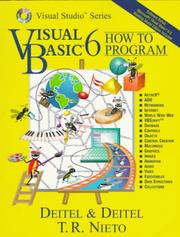 Cover of: Visual Basic 6 how to program by Harvey M. Deitel