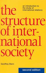 The Structure of International Society by Geoffrey Stern
