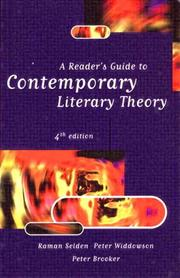 A reader&#39;s guide to contemporary literary theory by Raman Selden