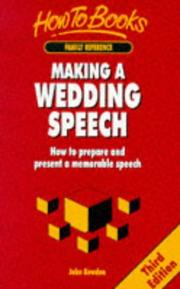 Making a Wedding Speech PDF