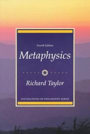 Metaphysics by Taylor, Richard