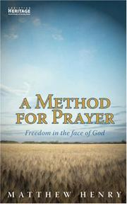A method for prayer by Matthew Henry