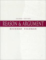 Cover of: Reason and argument by Feldman, Richard