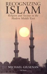 Recognizing Islam by Michael Gilsenan