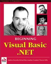 Beginning Visual Basic .NET PDF