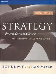 Strategy--process, content, context PDF
