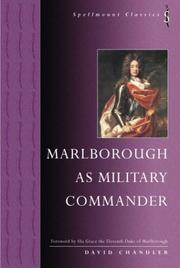 Marlborough as military commander by David G. Chandler