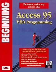 Beginning Access 95 VBA programming PDF