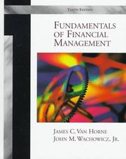 Fundamentals of financial management by James C. Van Horne